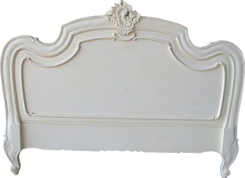 Louis Headboard Double Antique White